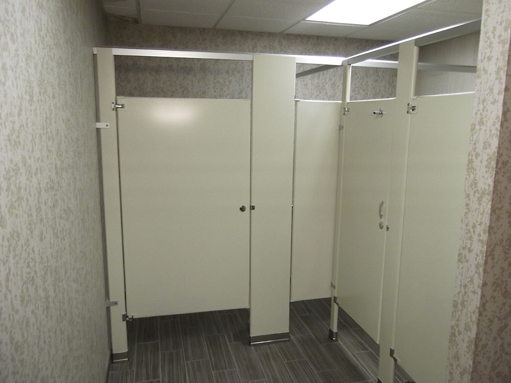 Bathrooms Partitions Painting bathroom partition refinishing | unicoat electrostatic painting